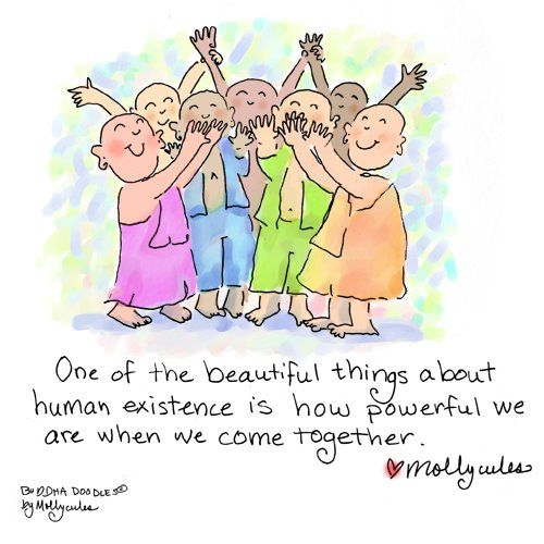 Lets #volunteer together and #makebetterhappen! Buddha Doodle!