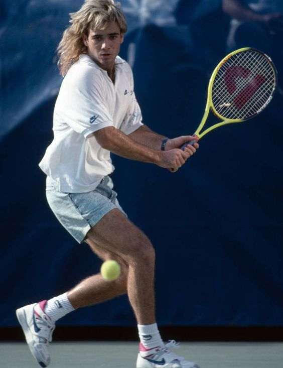 """Andre Agassi: Nike then and now!  <a href=""""http://www.tenniswarehouse-europe.com/catpage-MANIKE.html?lang=en&vat=GR&from=tnewsgr"""">http://www.tenniswarehouse-europe.com/catpage-MANIKE.html?lang=en&vat=GR&from=tnewsgr</a>"""