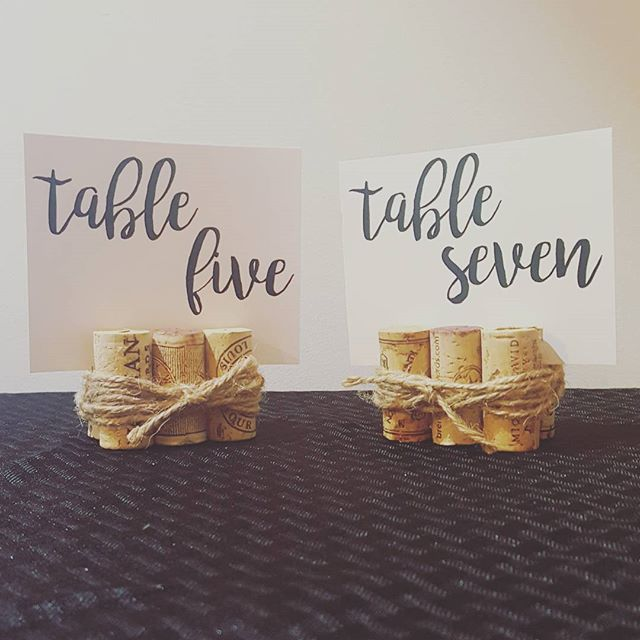 Designs by Kayla may be a stationery business, but one of our most popular items is actually these handmade wine cork table number holders (say that 10x fast!). These fit in so well with almost any type of wedding, and each one is completely unique.