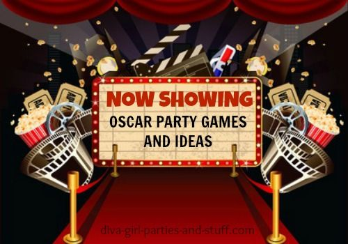 Oscar party ideas from invitations to decor and games such as Predict the…