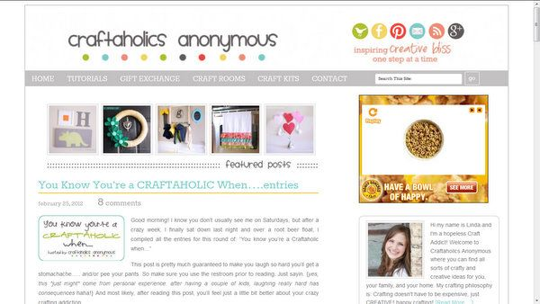 the new look of Craftaholics Anonymous