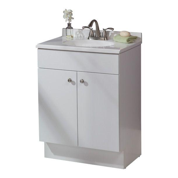 Gabinete Nevada de 2 piezas color blanco. Incluye lavabo de mármol procesado color blanco. Ensamblado de fabrica. Listo para instalar. Bisagras ocultas que se ajustan de 6 maneras. Herrajes para gabinete en níquel cepillado