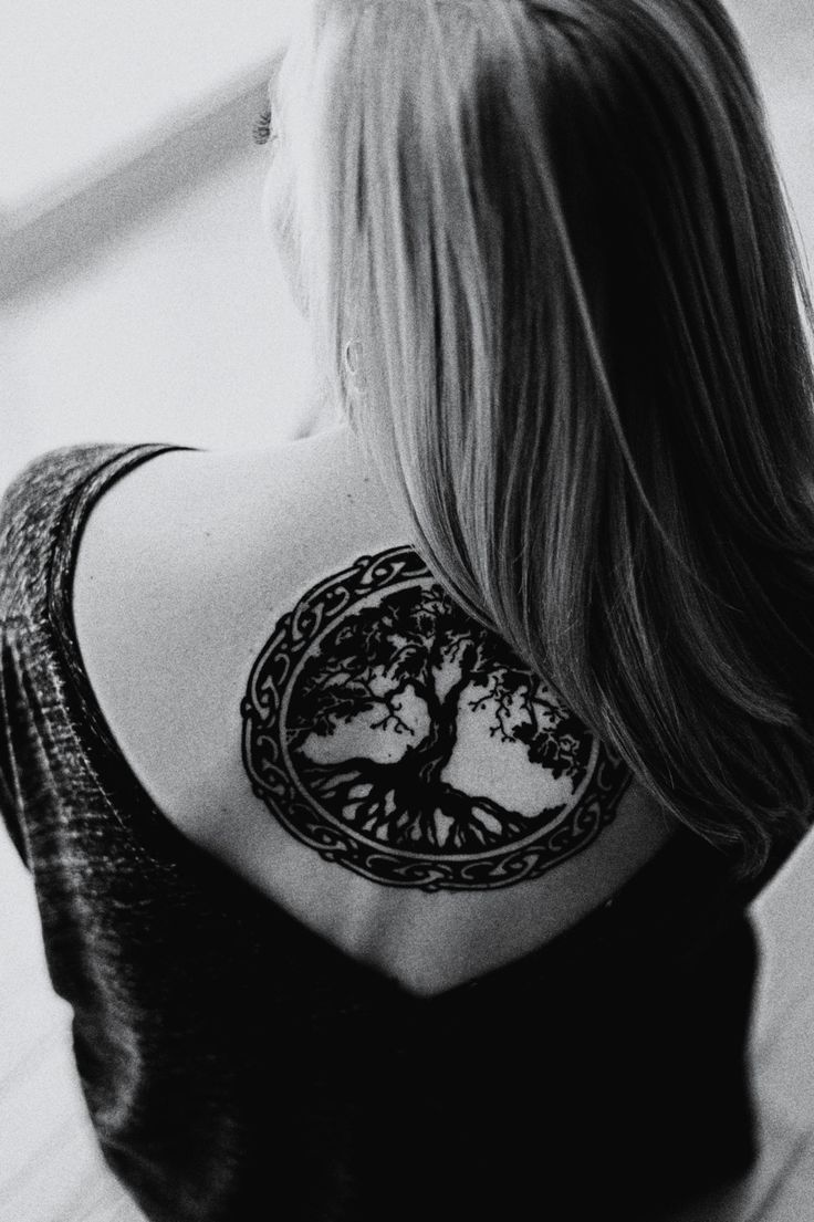 Mu music notes tattoo designs - One Of My Favourite Tree Of Life Tattoo Designs I Love The Placement And Celtic Idea Around It I Would Love To Get This Maybe Encorporate Some Celtic