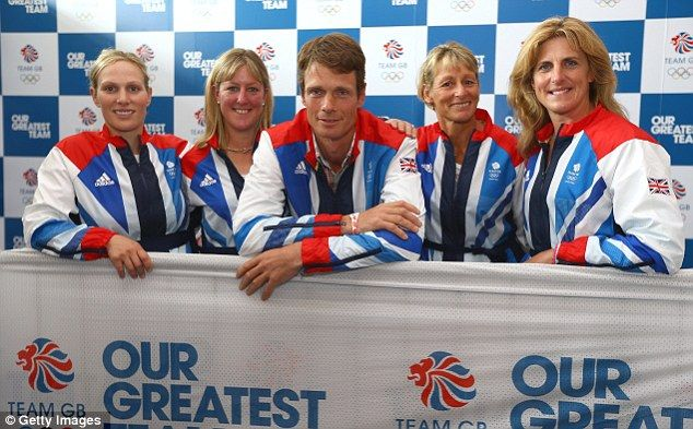 "http://www.discoverhorses.com/discover-leq-blog    The famous five: (l to r) Zara Phillips, Nicola Wilson, William Fox-Pitt, Mary King and Tina Cook of Team GB's eventing squad were ""kitted out"" yesterday"