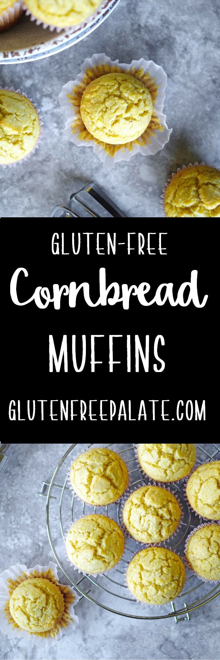Crumbly, sweet, and filling - Gluten-Free Cornbread is sure to be a staple in your gluten-free kitchen. via @gfpalate