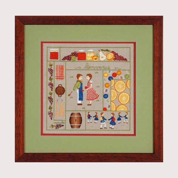 kit de broderie traditionnelle Septembre kit imprimé Référence: 647709
