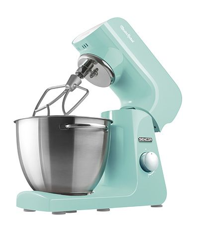 Sencor STM 41 GR stand mixer It is a fragrant color, one of relaxation and refreshment. It is helpful, open, friendly and likes company. It evokes everything beautiful. One look at me transports you to a lush green garden. I have a heart of steel, I'm driven by a reliable 1000W motor, and your wish is my command.