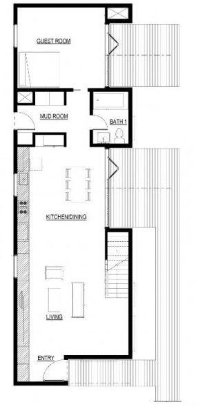 Plano de casa de 4 mts de ancho por 15 largo casas de 5 for Diseno de apartamento de 4x8 mts