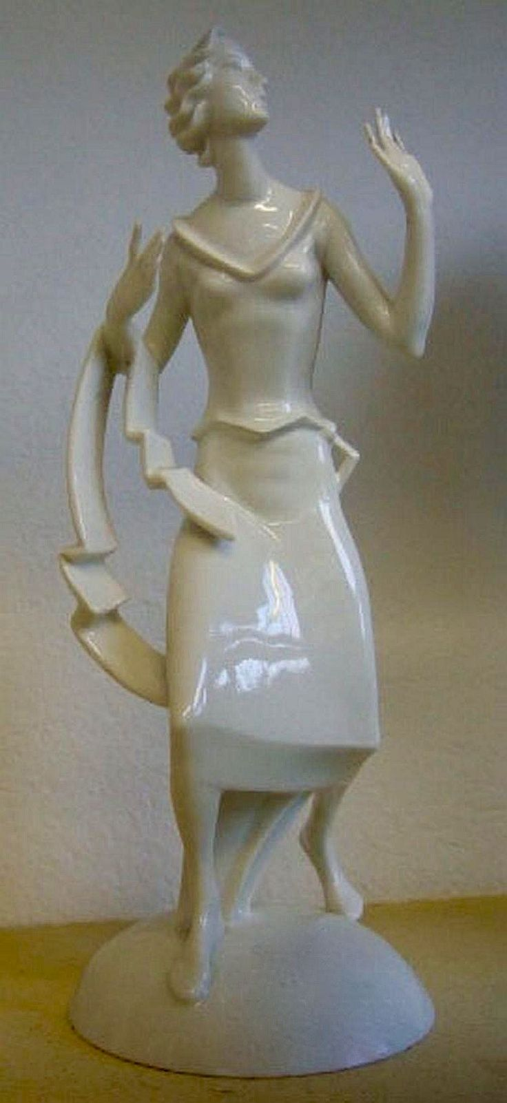 Rosenthal - A white porcelain figure of a lady. 1920.