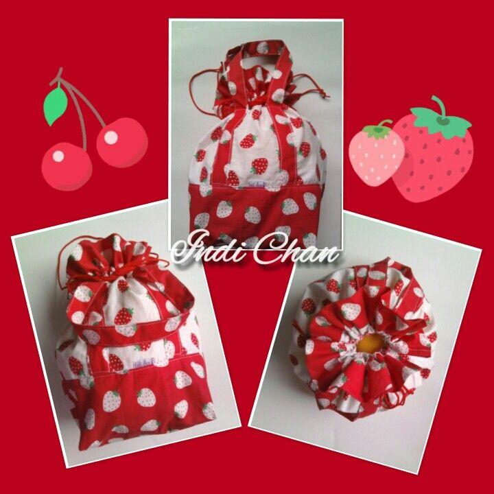 Strawberry lunch bag