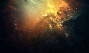 Umění, prostor, mlhoviny, hvězdokupy, záře