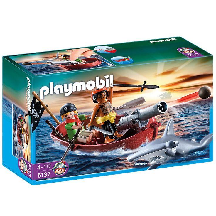 Playmobil Piraci Łódka piracka z rekinem, 5137, klocki