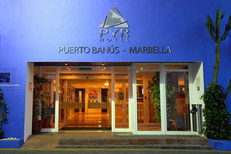 Entrance, Hotel PYR Marbella, Puerto Banus, Marbella, Costa del Sol, Spain