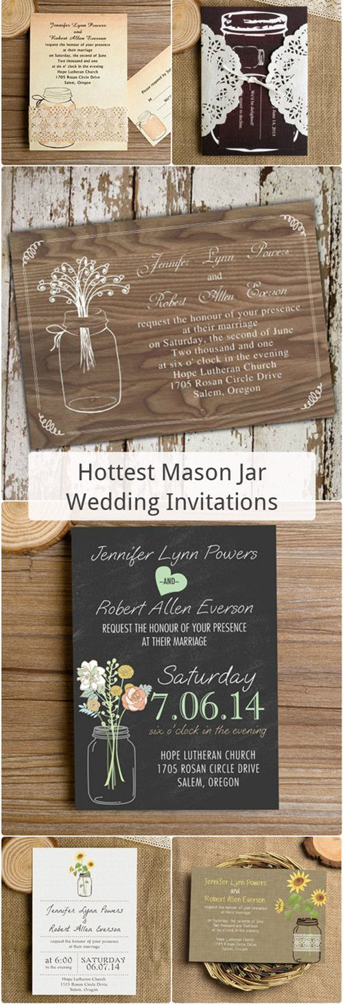 Hottest Country Mason Jars Themed Rustic Wedding