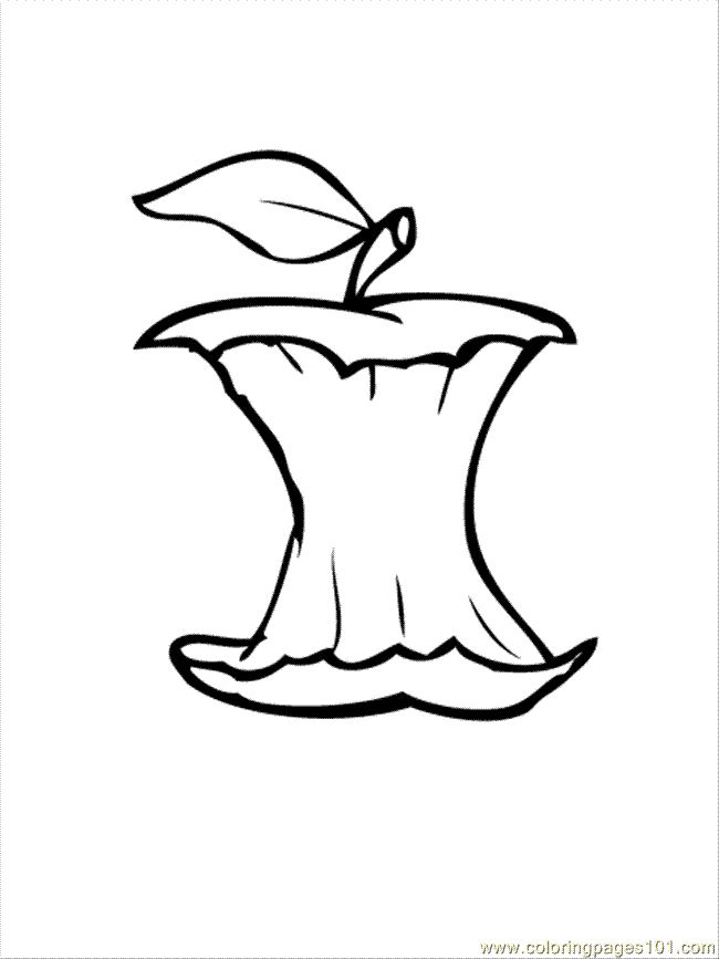 Apple Core Colouring Pages Drawing Apple Colouring Pages Coloring Pages