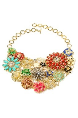 Amrita Singh Dillon Multicolor Floral Bib Necklace....I love Statement Necklaces