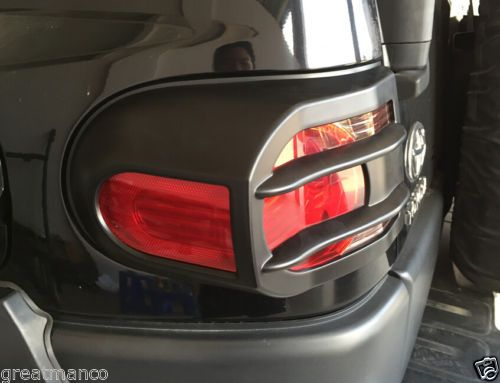 2007-14-Toyota-FJ-Cruiser-Head-Rear-Light-Guard-ABS-Protectors-Covers-Black-4x