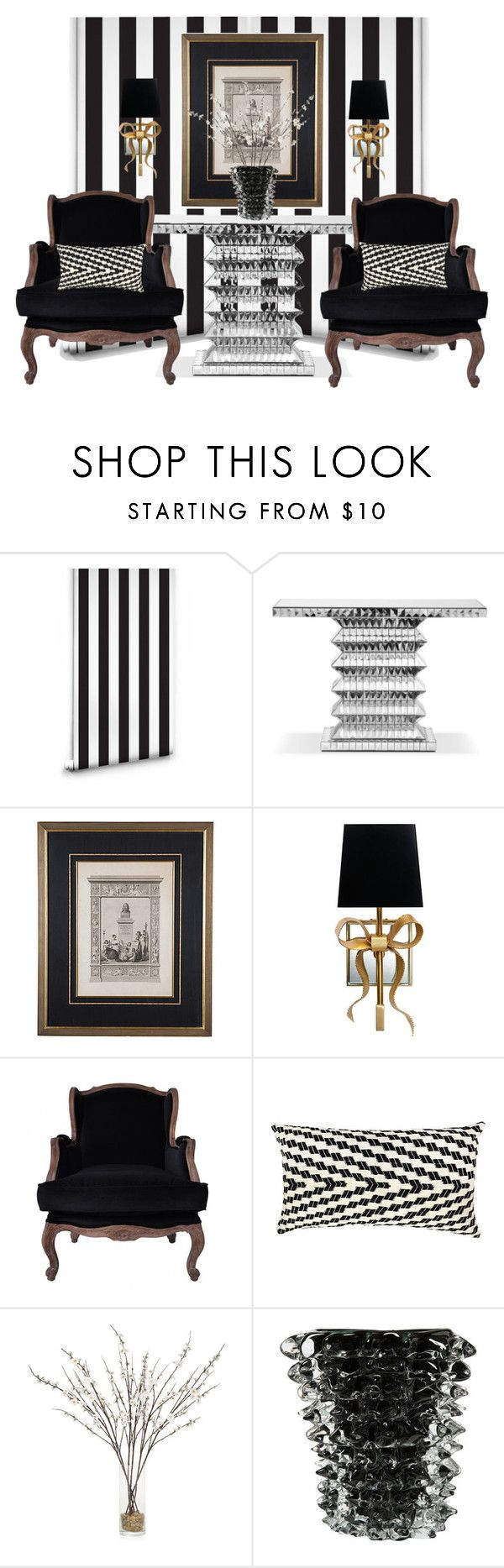 """19th-C Neoclassical Lithograph..."" by gloriettequartet ❤ liked on Polyvore featuring interior, interiors, interior design, home, home decor, interior decorating, Milton & King, Tara Shaw Maison, Kate Spade and Carter Sinclair"