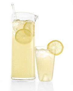 Classic Lemonade | Martha Stewart Living - A perennial favorite made with just three ingredients: lemon juice, sugar, and water.