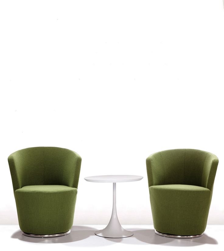 Office space furniture design with olive green tones. Relaxing to the eye and mind for good office design.