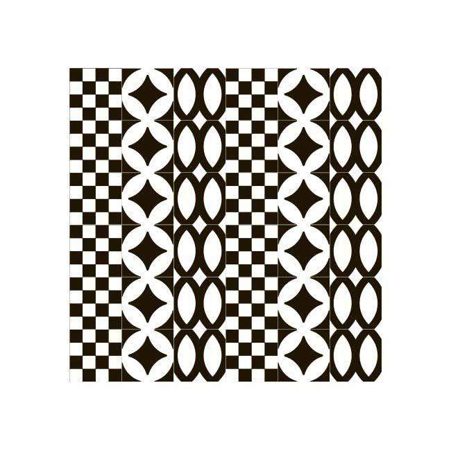7VFNBML_Comp.Mosaico36pz4,8*4,8ShemaL, Publieke ruimten, Badkamer, Moderne stijl stijl, Patchwork stijl stijl, Geglazuurde porseleinen tegel, wand - en vloerbekleiding, Glanzend oppervlak, niet-gerectificeerde kant