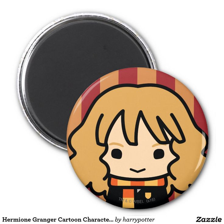 Hermione Granger Cartoon Character Art. Regalos, Gifts. #imanes #magnets