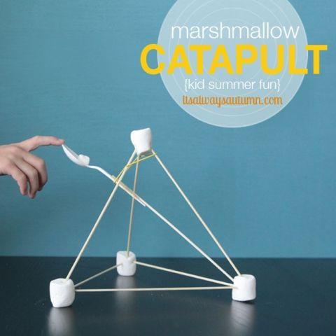 easy marshmallow catapults {summer fun for kids}   It's Always Autumn