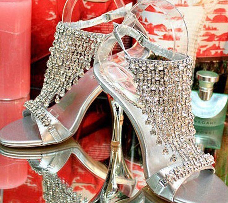 Ну вечеринку свадебные туфли превышать дорогостоящие серебро сандалии ну вечеринку выпускного вечера высокие каблуки леди великолепные летние сандалии