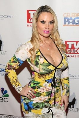 Welcome to Oghenemaga Otewu's Blog: Coco Austin shows off cleavage in tight dress as s...