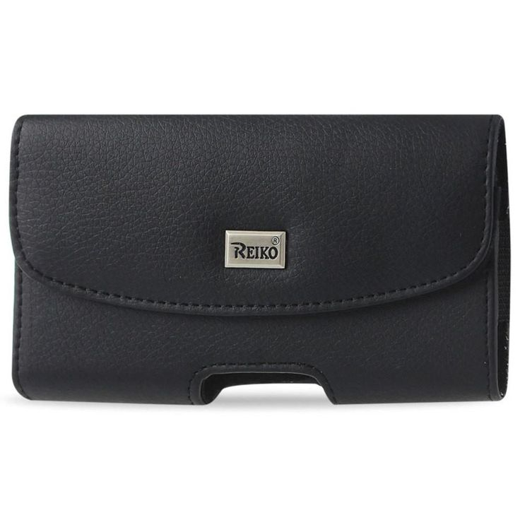 Reiko 6.1X3.27X0.48Inches (Samsung Note 3/ N7100) Horizontal Pouc Made Of Slim Smooth Leather In Black
