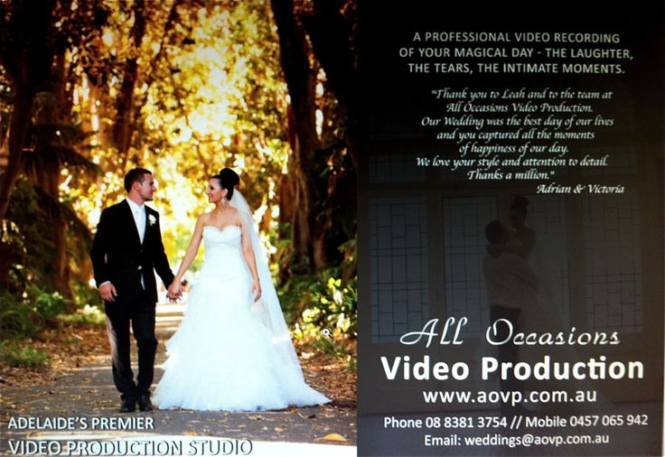 Our advert in the Brides of Adelaide (Photo supplied by Belle Photo)