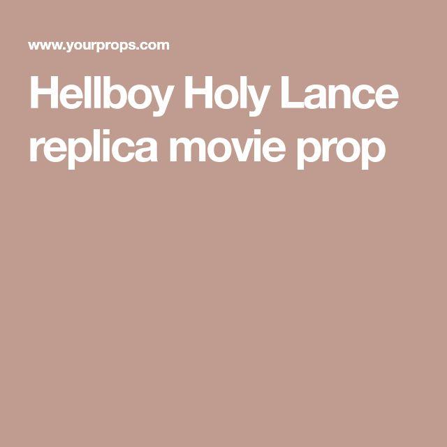 Hellboy Holy Lance replica movie prop
