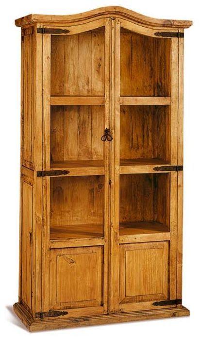 #Vitrina dos puertas de cristal y madera con estilo #rústico #mejicano, ideal para ocupar espacios como las #bodegas o las cocinas rústicas. Más información en: http://rusticocolonial.es/mueble-rustico-y-mueble-mejicano-de-gran-calidad-al-mejor-precio/muebles-de-salon-rusticos-y-mejicanos-de-gran-calidad-al-mejor-precio