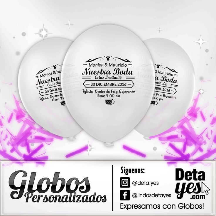 Globos Personalizados como Invitación para Bodas, somos @deta_yes  , Envíos a Toda Colombia, Pedidos 31856657519