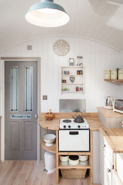 Love the little stove-Shepherds Keep - The Shepherds Hut Retreat