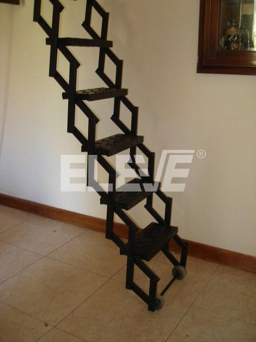 Gradas de madera para subir a un altillo buscar con google escaleras pinterest searching - Escalera plegable altillo ...