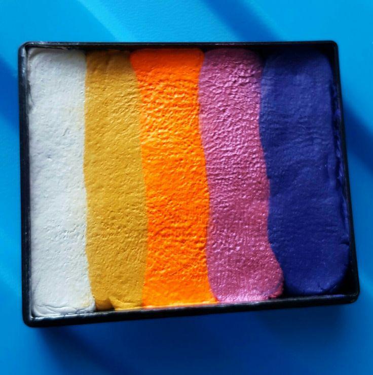 Eigengemaakte splitcake geïnspireerd door de sunset cake van TAG