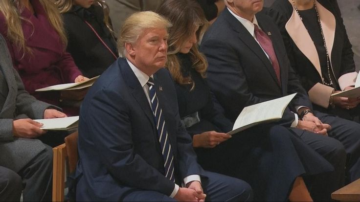 US President Donald Trump listened to a Quran recitation as part of an inaugural service on Saturday