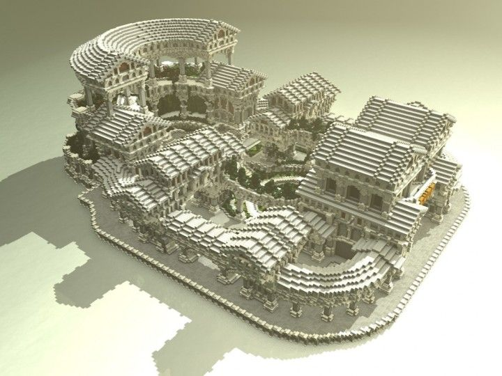Greek sanctuary - ( A faction spawn ) Minecraft Project