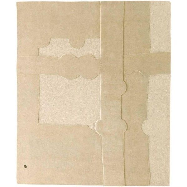 Gravitacion 1993 Handmade Wool And Mohair Rug By Eduardo Chillida ($10,822) ❤ liked on Polyvore featuring home, rugs, beige, western european rugs, off white rug, wool area rugs, western area rugs, textured rugs and handmade wool rugs