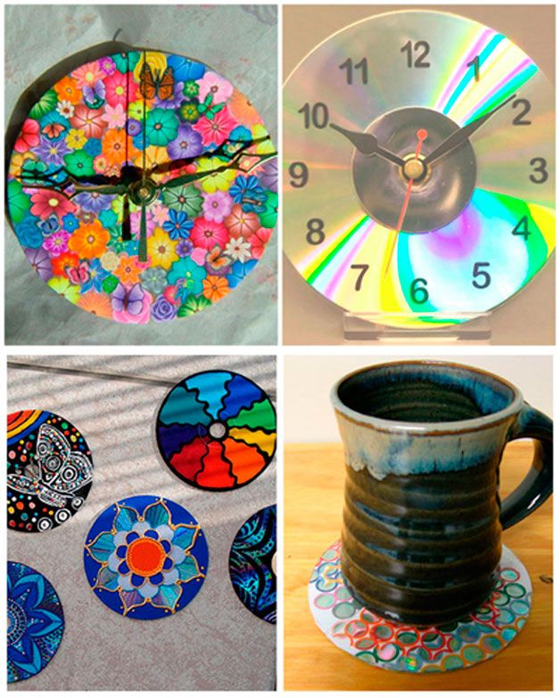 1000 images about recycled cd crafts on pinterest - Manualidades de papel reciclado ...