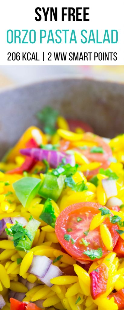 Syn Free Orzo Pasta Salad | Syn Free Slimming World | 2 Weight Watchers Smart Points | 206 Kcal |