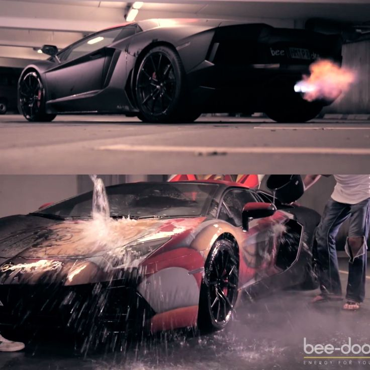 Lamborghini Aventadoru0027s Trick Paintjob. In Cold Temperatures, Or When Cold  Water Is Applied,
