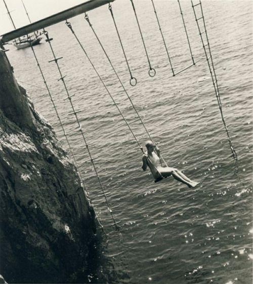 antibes, 1938: Cap Dantib, Retro Photos, Antibes 1938, Woman, Swings, Vintage Photography, Black Nwhite, Cap D'Antib, Regina Relang