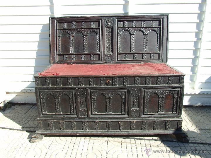 Arca caja de novia catalana de vic s xvii para for Antiguedades para restaurar