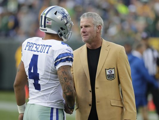Both #4. Both Mississippi boys. Dak Prescott and Brett Favre