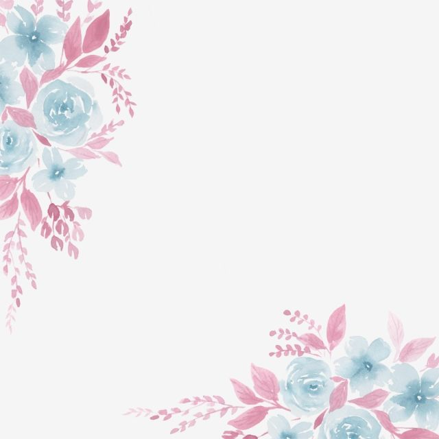 Watercolor Floral Card Border Frame Design Vector Floral Floral