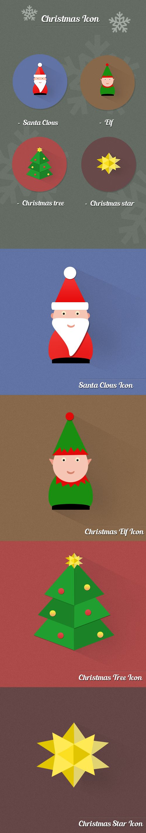 Christmas Icon (Free) on Behance