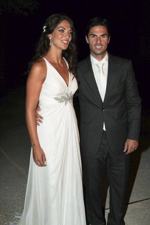 Lorena Bernal, en su boda con Mikel Arteta