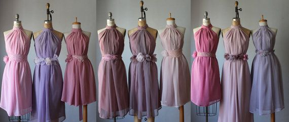 mismatched bridesmaid dresses shades of plump by AtelierSignature, $99.99